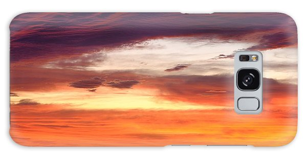 Painterly Sunrise On The Blue Ridge Parkway Galaxy Case