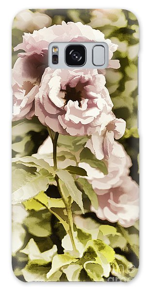 Painting Of A Live Pink Rose Flower In Color 3225.02 Galaxy Case