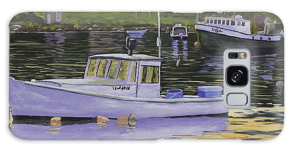 Fishing Boats In Port Clyde Maine Galaxy Case by Keith Webber Jr