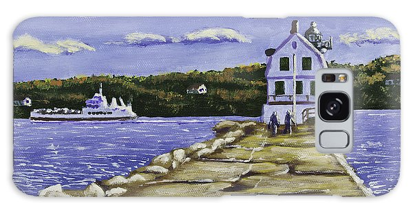 Rockland Breakwater Lighthouse In Maine Galaxy Case