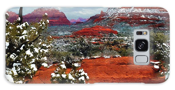 Painting Secret Mountain Wilderness Sedona Arizona Galaxy Case