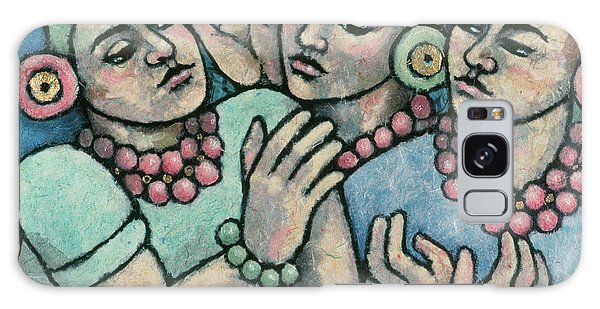 paintings of women - Girls from Borobudur Galaxy Case