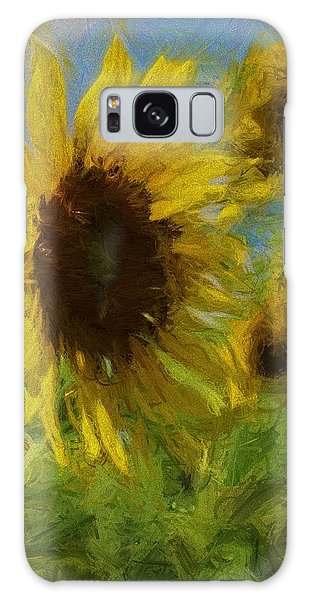 Conyers Galaxy Case - Painty Sunflower by Cathy Lindsey