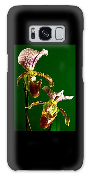 Pair Of Lady Slipper Orchids Galaxy Case