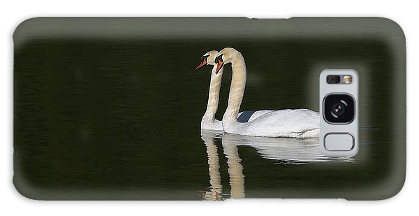 Pair Of Mute Swans Galaxy Case
