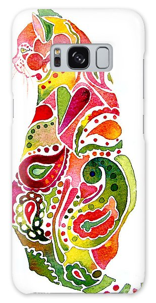 Paisley Cat 2 Galaxy Case by Jo Lynch