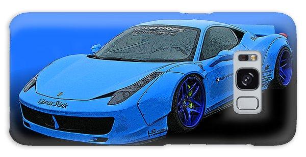 Pale Blue Ferrari 458 Italia Galaxy Case