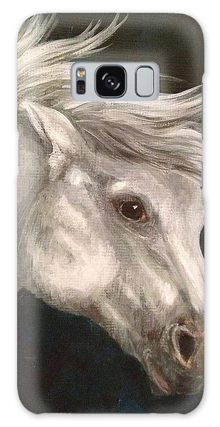 Pale Grey Horse Galaxy Case