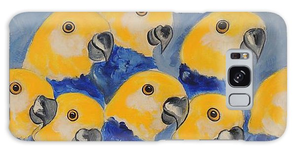 Pale Head Parrots Galaxy Case