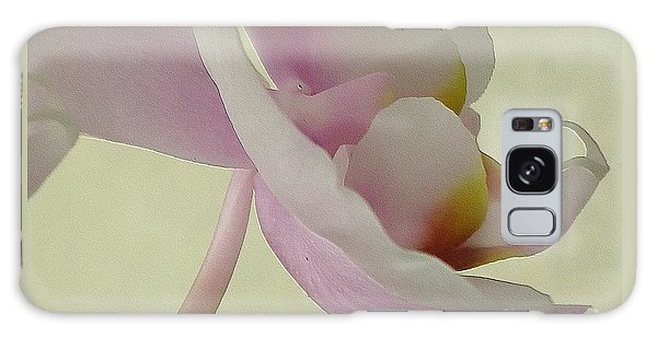 Pale Orchid On Cream Galaxy Case