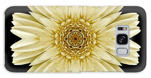 Pale Yellow Gerbera Daisy IIi Flower Mandala Galaxy Case