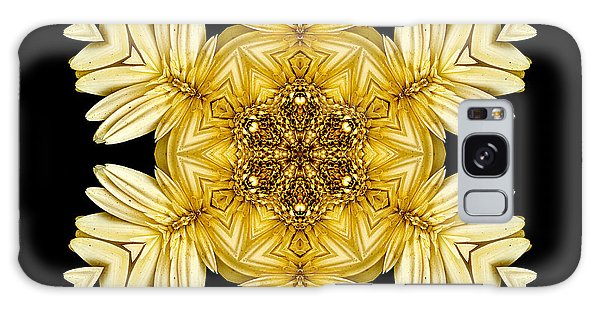 Pale Yellow Gerbera Daisy Vii Flower Mandalaflower Mandala Galaxy Case