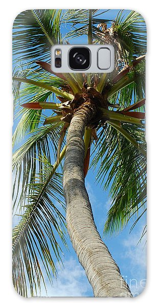 Palm And Sky Galaxy Case by Kathy Gibbons