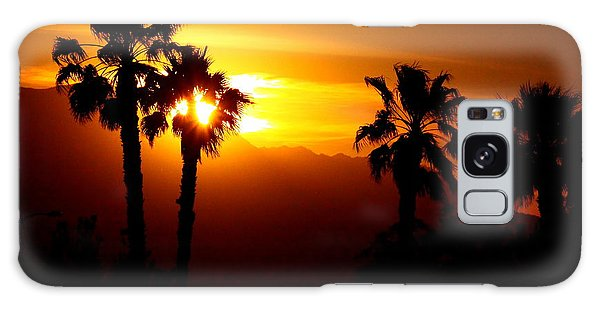 Palm Desert Sunset Galaxy Case