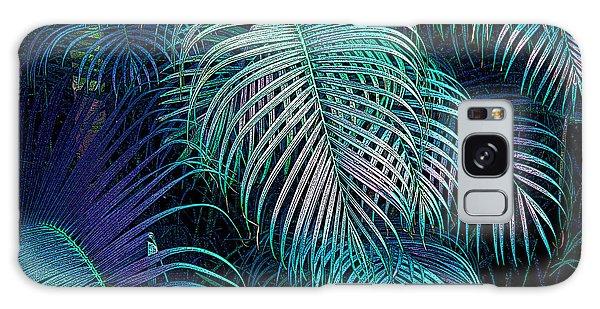 Palm Fronds Galaxy Case by Mariarosa Rockefeller