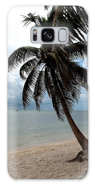 Palm On The Beach Galaxy Case by Christiane Schulze Art And Photography