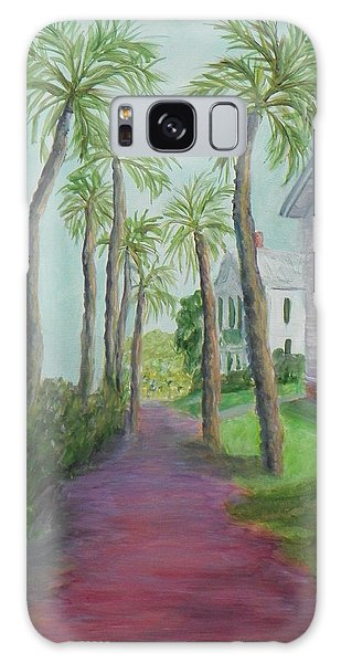 Palm Row In St. Augustine Florida Galaxy Case