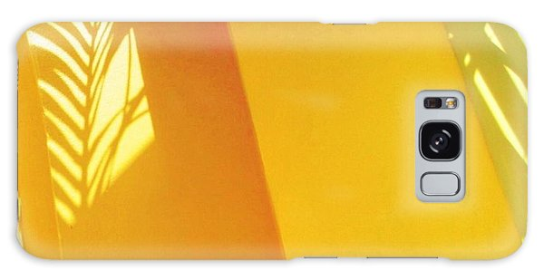 Palm Shadow On Yellow Wall - Square Galaxy Case