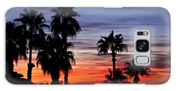 Palm Shadows Galaxy Case