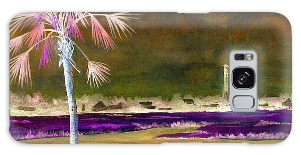 Palm Tree 0n Causeway Galaxy Case