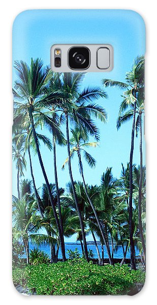 Palm Tree Gathering Galaxy Case by Karen Nicholson