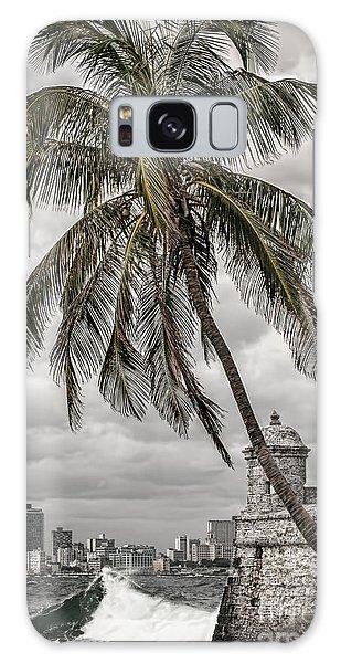 Palm Tree In Havana Bay Galaxy Case