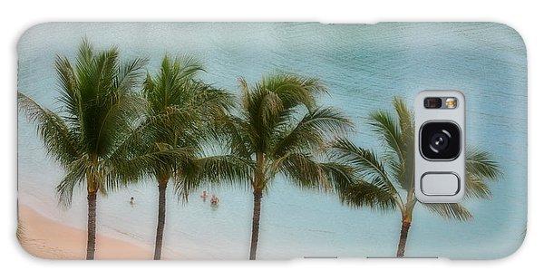 Palm Tree Lagoon Galaxy Case
