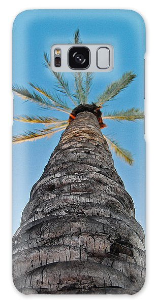 Palm Tree Looking Up Galaxy Case
