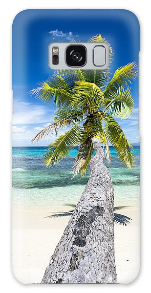 Palm Tree Over Water Galaxy Case