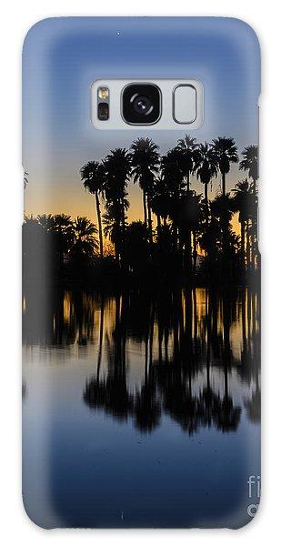 Palm Tree Reflection Galaxy Case
