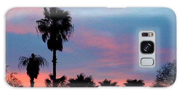 Palm Tree Sunset Galaxy Case