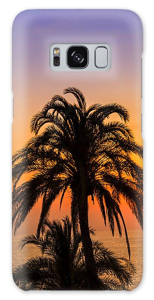 Palm Tree Sunset Vertical Galaxy Case