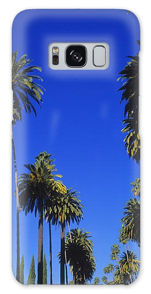 Palm Trees Along A Road, Beverly Hills Galaxy Case