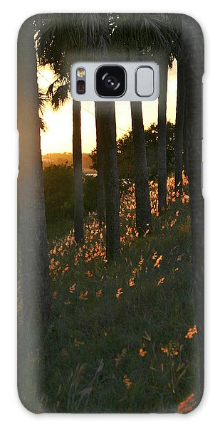 Palm Trees In Silhouette Galaxy Case