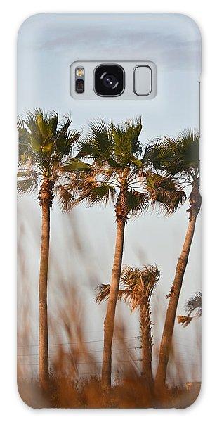 Palm Trees Through Tall Grass Galaxy Case
