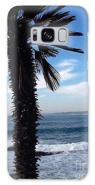 Palm Waves Galaxy Case by Susan Garren