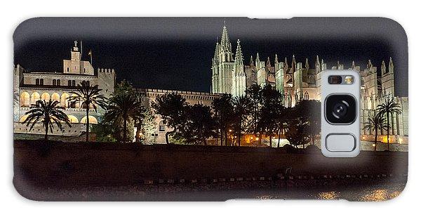 Palma Cathedral Mallorca At Night Galaxy Case