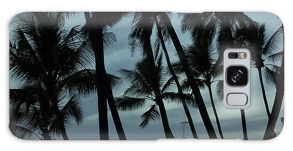 Palms At Dusk Galaxy Case by Suzanne Luft