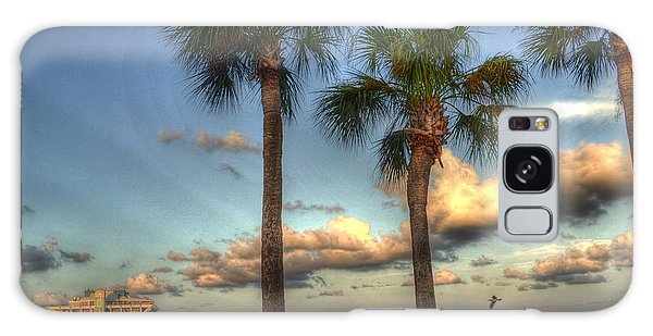 Palms At The Pier Galaxy Case by Timothy Lowry
