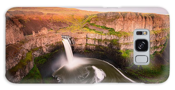 Palouse Falls Sunset Blush Galaxy Case