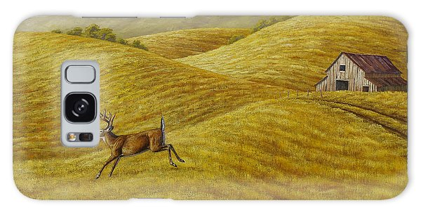 White-tailed Deer Galaxy Case - Palouse Farm Whitetail Deer by Crista Forest