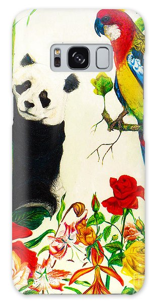 Panda And Parrot Galaxy Case