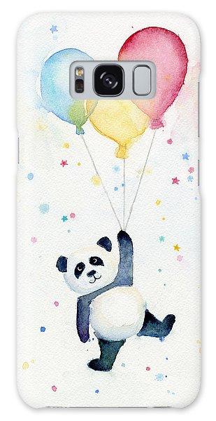 Celebration Galaxy Case - Panda Floating With Balloons by Olga Shvartsur