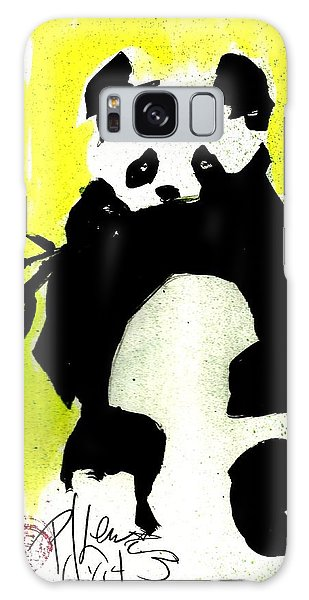 Panda Haiku Galaxy Case by P J Lewis