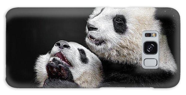 Furry Galaxy Case - Pandas by Alessandro Catta