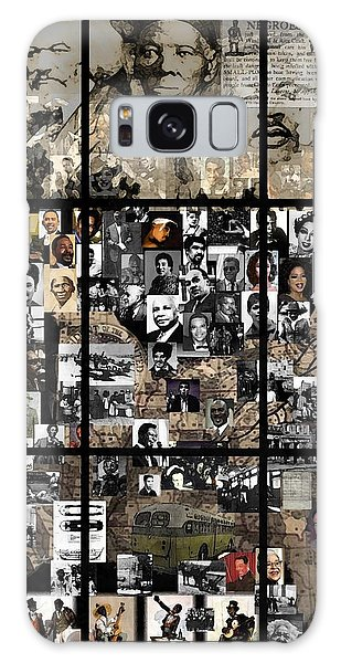 Malcom X Galaxy Case - Panes Of History by Marcus Lewis