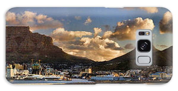 Panorama Cape Town Harbour At Sunset Galaxy Case