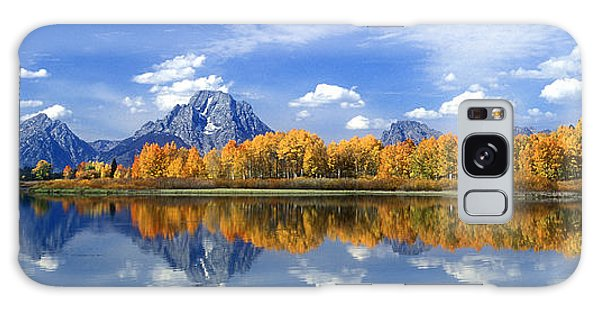 Panorama Fall Morning At Oxbow Bend Grand Tetons National Park Galaxy Case by Dave Welling