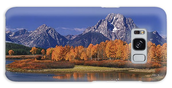 Panorama Fall Morning Oxbow Bend Grand Tetons National Park Wyoming Galaxy Case
