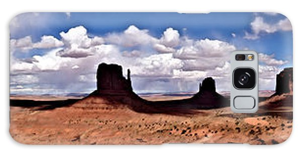 Panorama - Monument Valley Park Galaxy Case by David Blank